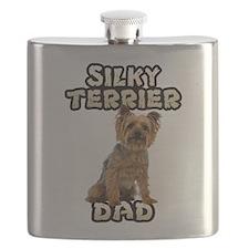 Silky Terrier Dad Flask