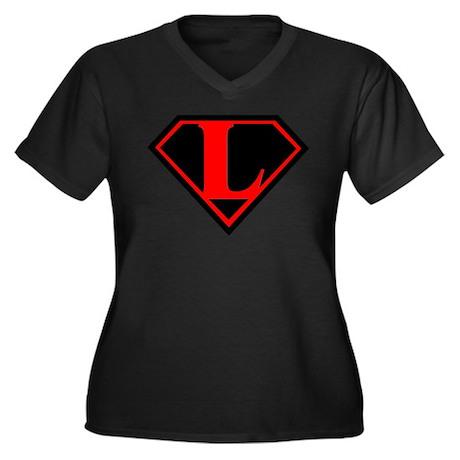 Lex Symbol 1 Women's Plus Size V-Neck Dark T-Shirt
