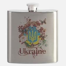 Butterfly Ukraine Flask