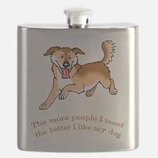 Dog - Cartoon 090.t... Flask