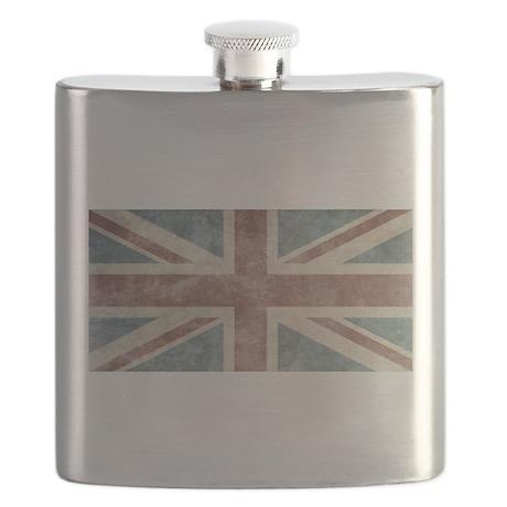 Vintage UK Flag Flask