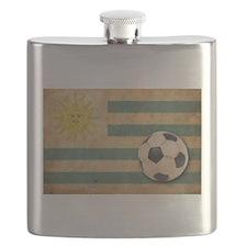 Vintage Uruguay Football Flask