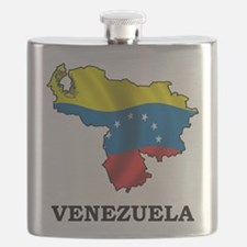 Map Of Venezuela Flask