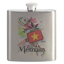 Flower Vietnam Flask