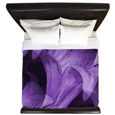 Modern Purple Floral by Mark Moore King Duvet