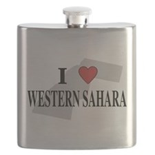 I Love Western Sahara Flask