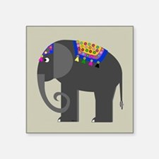 "Indian Elephant Square Sticker 3"" x 3"""