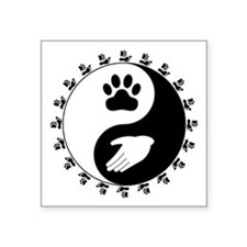 "Universal Animal Rights Square Sticker 3"" x 3"""