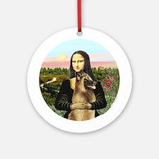 Mona Lisa - Belgian Tervuren Ornament (Round)