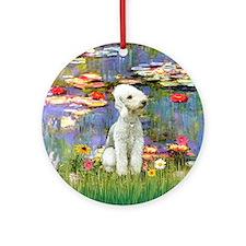 Lilies2 - Bedlongton Terrier Ornament (Round)