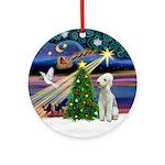 XmasMagic-Bedlington Terrier Ornament (Round)