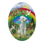 Rainbow - Bedlington Terrier Ornament (Oval)