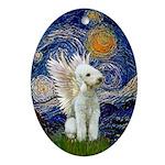 Starry Night - Bedlington TerrierOrnament (Oval)