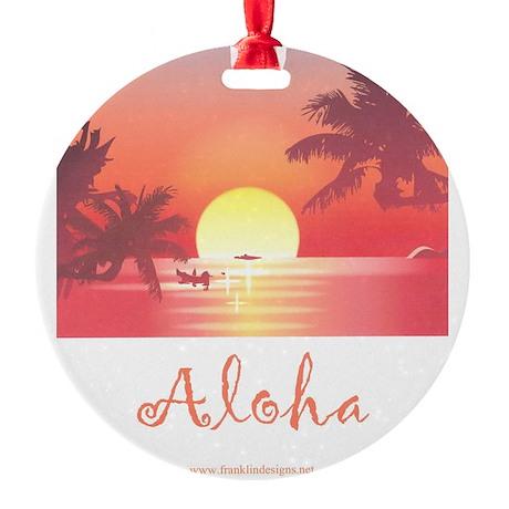 HAWAII SUNSET Round Ornament