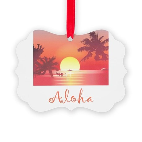 HAWAII SUNSET Picture Ornament