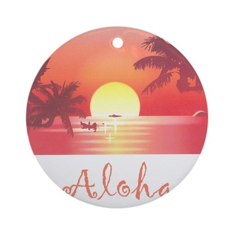 HAWAII SUNSET Ornament (Round)