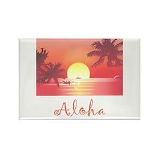 HAWAII SUNSET Rectangle Magnet