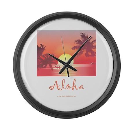 HAWAII SUNSET Large Wall Clock