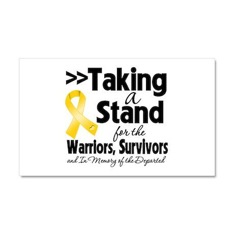 Stand Childhood Cancer Car Magnet 20 x 12