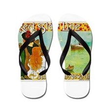 New York Travel Poster 2 Flip Flops