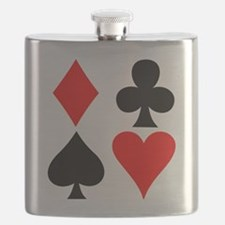 Playing card suits. Flask