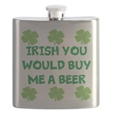 Irish you would buy me a beer Flask