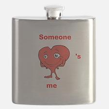 Cute Heart shirt Someone hearts me Flask