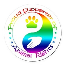Supporter of Animal Rights Round Car Magnet