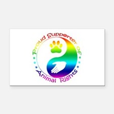Supporter of Animal Rights Rectangle Car Magnet