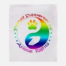 Supporter of Animal Rights Throw Blanket