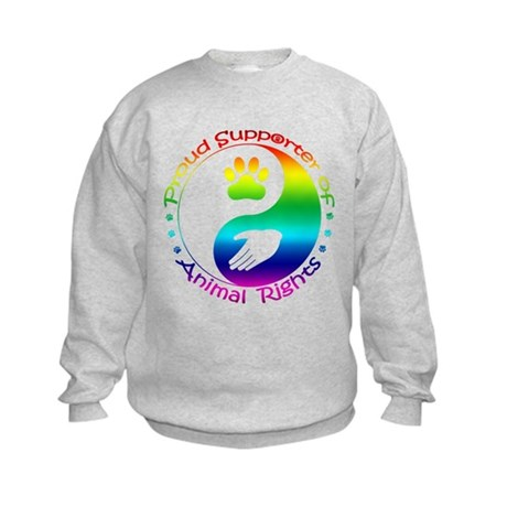 Supporter of Animal Rights Kids Sweatshirt