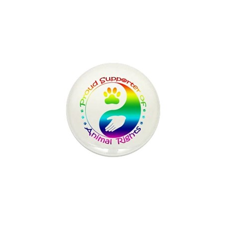 Supporter of Animal Rights Mini Button