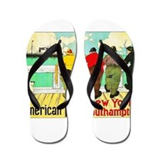 New York Travel Poster 1 Flip Flops