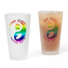 Please Support Animal Rights Drinking Glass