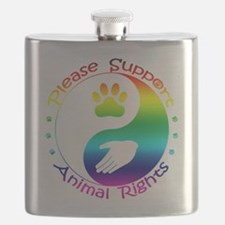 Please Support Animal Rights Flask