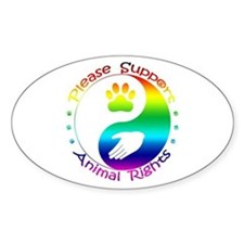 Please Support Animal Rights Decal