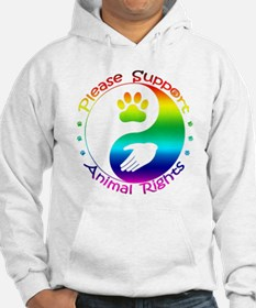 Please Support Animal Rights Hoodie