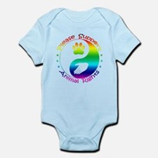 Please Support Animal Rights Infant Bodysuit