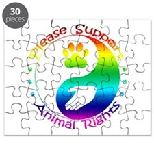Please Support Animal Rights Puzzle