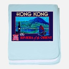 Hong Kong Travel Poster 1 baby blanket
