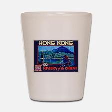 Hong Kong Travel Poster 1 Shot Glass