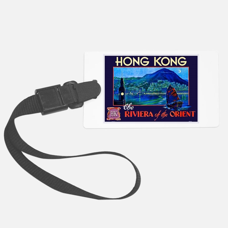 Hong Kong Travel Poster 1 Luggage Tag