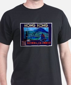 Hong Kong Travel Poster 1 T-Shirt