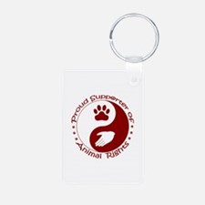 Supporter of Animal Rights Keychains