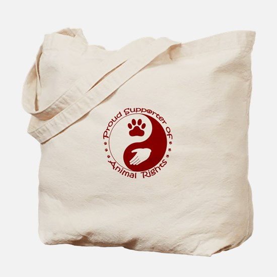 Supporter of Animal Rights Tote Bag