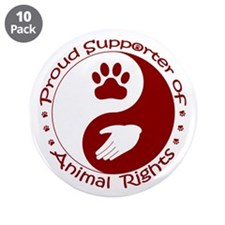 """Supporter of Animal Rights 3.5"""" Button (10 pack)"""