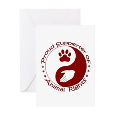 Supporter of Animal Rights Greeting Card