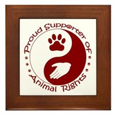 Supporter of Animal Rights Framed Tile