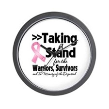 Stand Breast Cancer Wall Clock