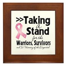 Stand Breast Cancer Framed Tile